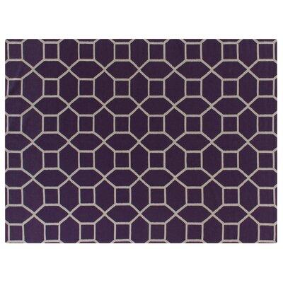 Wool Purple/Ivory Area Rug