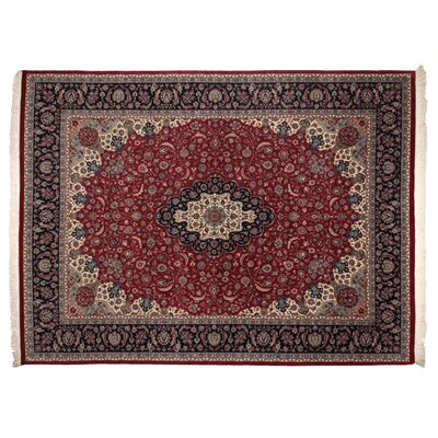 One-of-a-Kind Hand-Woven Wool Wine/Ivory Area Rug