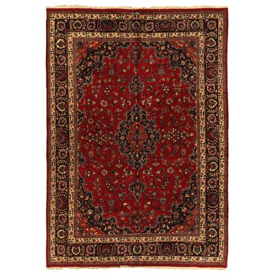 One-of-a-Kind Fine Persian Hand-Woven Wool Red/Blue Area Rug