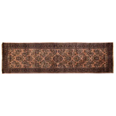 One-of-a-Kind Fine Indo Hand-Woven Wool Rust/Black Area Rug