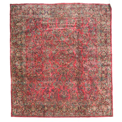 One-of-a-Kind Hand-Woven Wool Pink Area Rug
