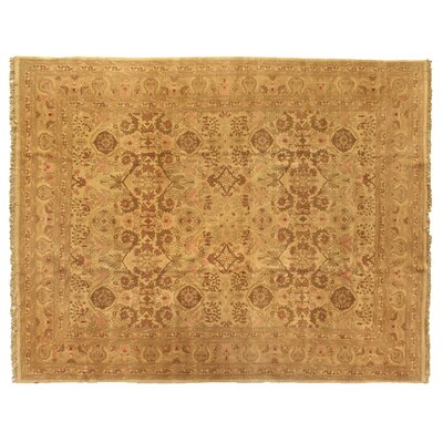 One-of-a-Kind Hand-Woven Wool Brown Area Rug