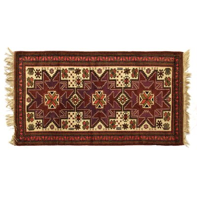 One-of-a-Kind Hand-Woven Wool Plum/Red Area Rug