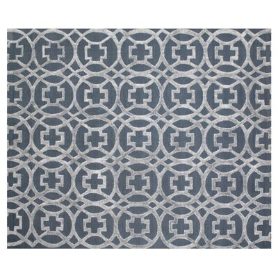 Windsor Wool Gray/Blue Area Rug Rug Size: Rectangle 9 x 12