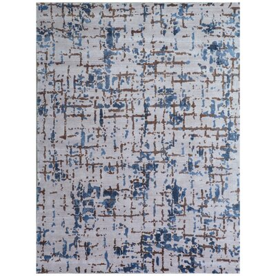 Antolini Ivory/Blue Area Rug Rug Size: Rectangle 9 x 12