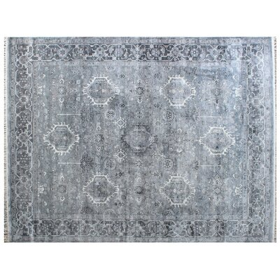 Windsor Wool Silver Area Rug Rug Size: Rectangle 6' x 9'