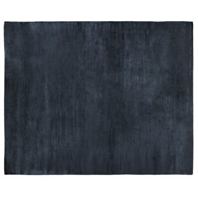 Plain Dove Hand-Woven Silk Black Area Rug Rug Size: Rectangle 12 x 15