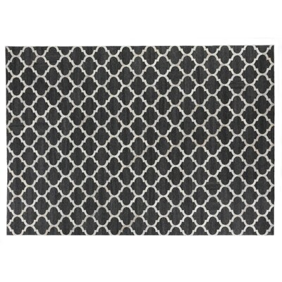 Charcoal/Ivory Area Rug Rug Size: Rectangle 136 x 176
