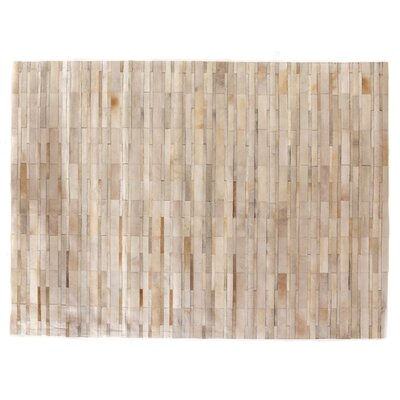 Hand-Woven Tan Area Rug Rug Size: Rectangle 136 x 176