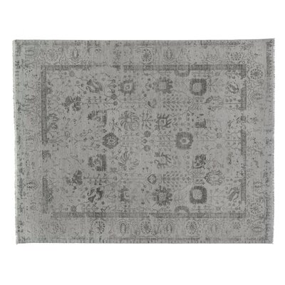 Lexington Hand-Knotted Silver/Aqua Area Rug Rug Size: Rectangle 8 x 10