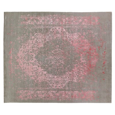 Milan Hand-Knotted Pink Area Rug Rug Size: Rectangle 9 x 12
