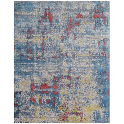 Antolini Blue Area Rug Rug Size: Rectangle 10 x 14
