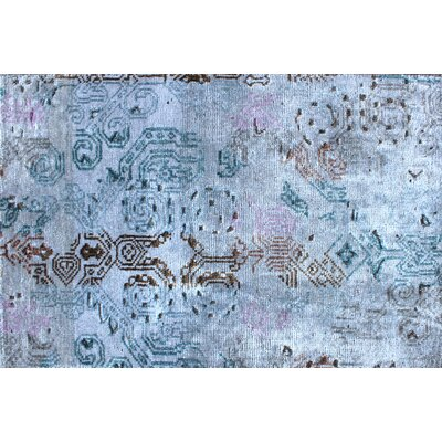 Ashley Hand-Knotted Blue/Gray Area Rug Rug Size: Rectangle 6' x 9'