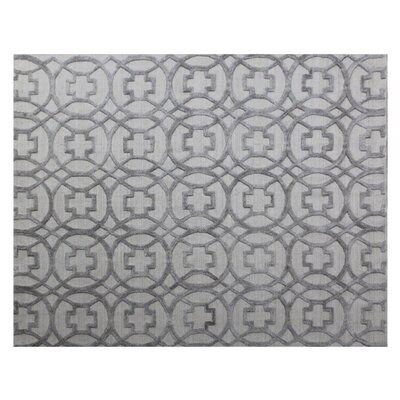 Windsor Wool Gray Area Rug Rug Size: Rectangle 9 x 12