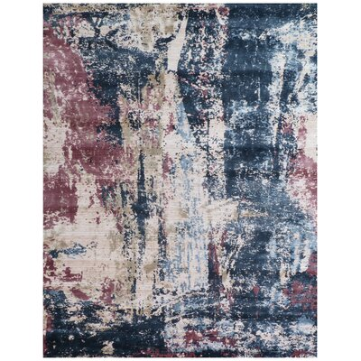 Antolini Blue Area Rug Rug Size: Rectangle 9 x 12