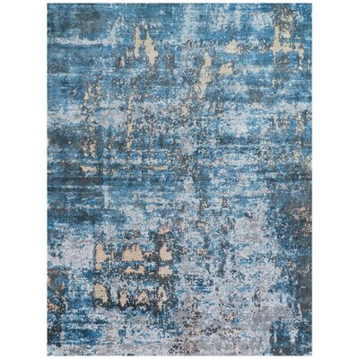 Reflections Blue Area Rug Rug Size: Rectangle 10 x 14