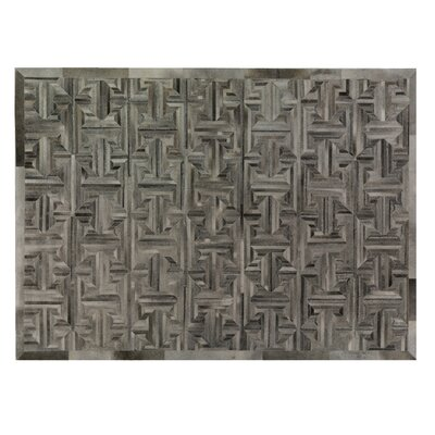 Natural Hide Hand-Tufted Cowhide Gray/Brown Area Rug Rug Size: Rectangle 136 x 176