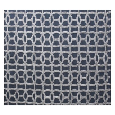Windsor Wool Gray/Blue Area Rug Rug Size: Rectangle 14 x 18