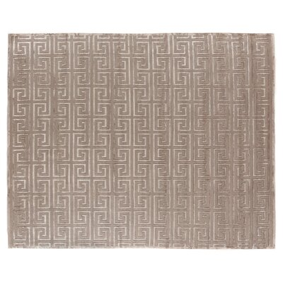 Hand-Knotted Wool Beige Area Rug Rug Size: Rectangle 14 x 18