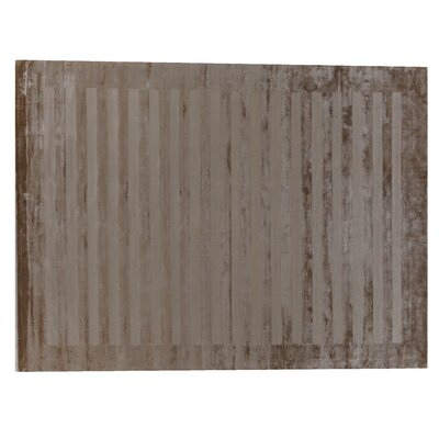 Panel Stripes Taupe Area Rug Rug Size: Rectangle 15 x 20