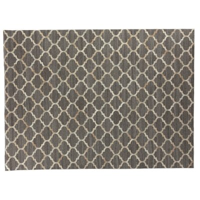 Beige/Silver Area Rug Rug Size: Rectangle 136 x 176