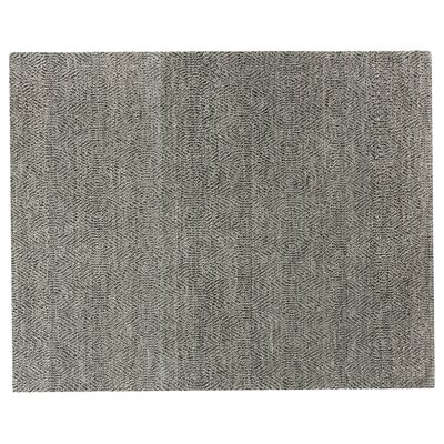 Hand-Woven Wool Gray Area Rug Rug Size: Rectangle 14 x 18