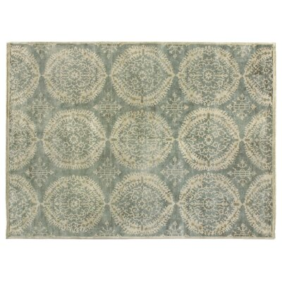 Fine Hand Knotted Wool Silver/Gray Area Rug Rug Size: Rectangle 12 x 15