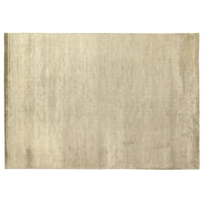 Dove Courduroy Silk Hand-Woven Light Beige Area Rug Rug Size: Rectangle 15 x 20