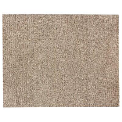 Honeycomb Hand-Woven Wool Beige Rug Rug Size: Rectangle 14 x 18