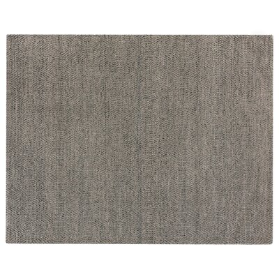 Hand-Woven Wool Silver Area Rug Rug Size: Rectangle 14 x 18