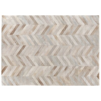 Natural Hide White/Brown Area Rug