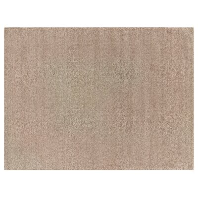 Hand-Woven Wool Beige Area Rug Rug Size: Rectangle 14 x 18