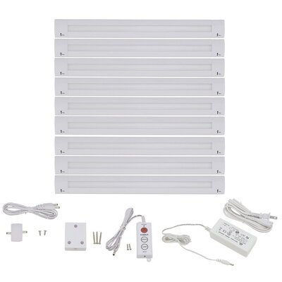 Lilium 20 Piece Modular 12 LED Under Cabinet Bar Light Set Bulb: Cool White (6000K)