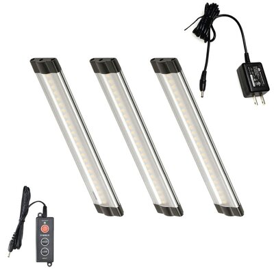 3 Piece Modular LED 6 Under Cabinet Bar Light Set Bulb: Warm White (3000K)