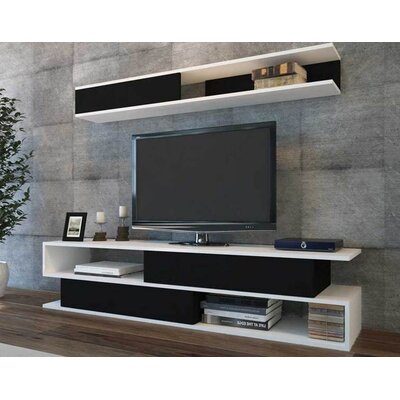 Sandell 71 TV Stand Color: White/Black