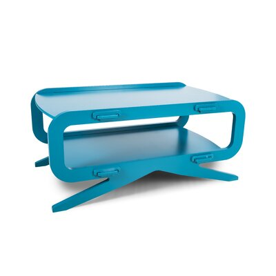 Cass Modern Coffee Table Color: Blue