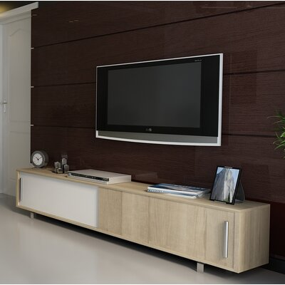 Sandefur 71 TV Stand Color: White/Sonoma