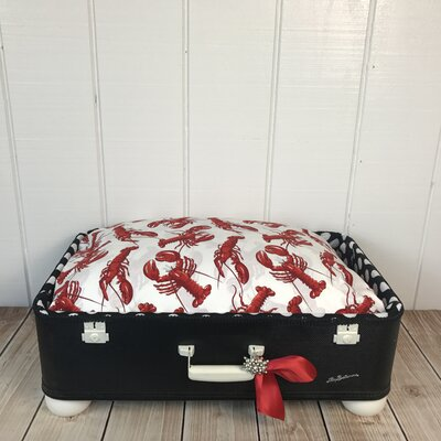 Lifes a Beach Pet Suitcase Bed