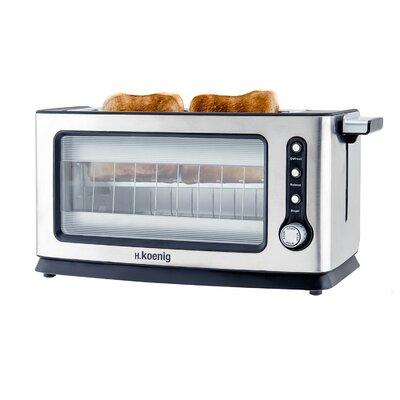 Toaster VIEW6 für 2 Scheiben   Küche und Esszimmer > Küchengeräte > Toaster   Silver   Edelstahl - Glas   H. Koenig