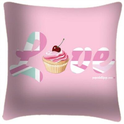 Hornberger Love Cupcake Throw Pillow