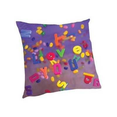Houghton I Love You Letters Throw Pillow