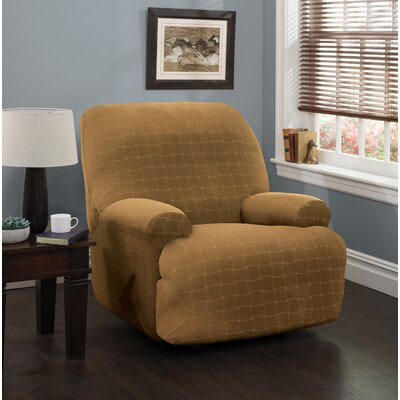 Solid Box Cushion Recliner Slipcover Upholstery: Antique/Solid