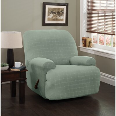 Solid Box Cushion Recliner Slipcover Upholstery: Spa