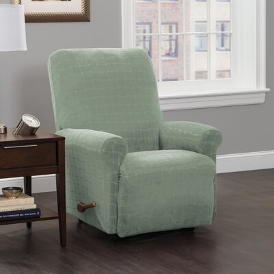 Box Cushion Recliner Slipcover Upholstery: Spa