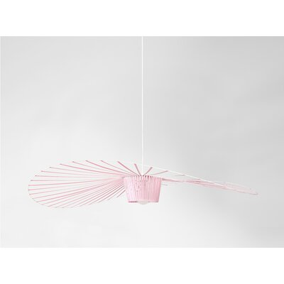 Wensley Geometric Pendant Finish: Pink, Size: 6.7 H x 78.7 W x 78.7 D