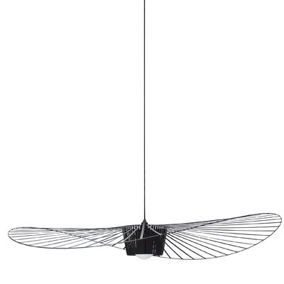 Wensley Geometric Pendant Finish: Black, Size: 5.9 H x 55.1 W x 55.1 D
