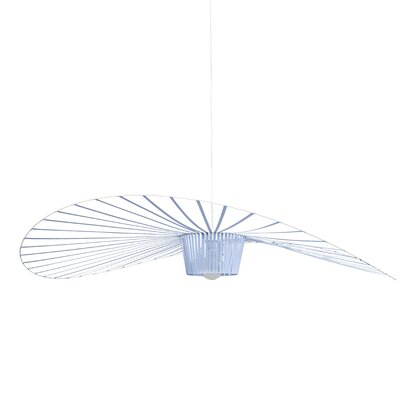 Wensley Geometric Pendant Finish: Blue, Size: 5.9 H x 55.1 W x 55.1 D