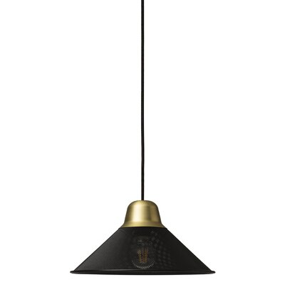 West Broadway 1-Light Mini Pendant Finish: Black, Size: 6.7 H x 13 W x 13 D
