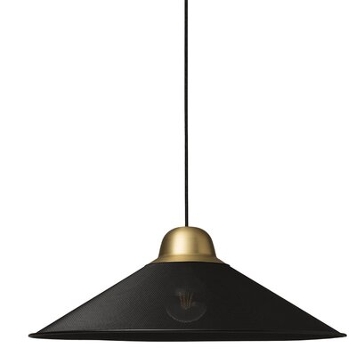 West Broadway 1-Light Mini Pendant Finish: Black, Size: 8.9 H x 24.8 W x 24.8 D