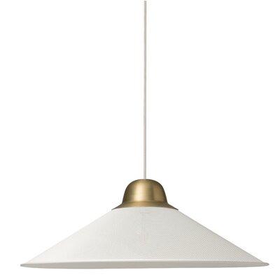 West Broadway 1-Light Mini Pendant Finish: White, Size: 8.9 H x 24.8 W x 24.8 D